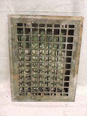 Vintage 1920S Iron Heating Grate Square Design 13.75 X 11 B