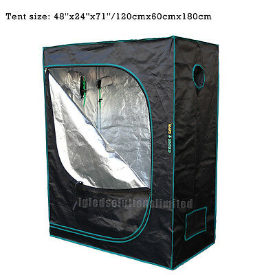 New 48''x24''x60'' Indoor Grow Tent Hydroponic Plant Growing Non Toxic Room Box
