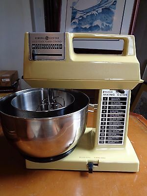 Vintage GE General Electric Stand Up Heavy Duty Mixer w/ Bowls