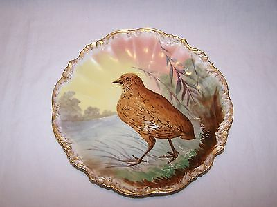 Limoges Plate with Bird Walking - Wm. Guerin & Co.