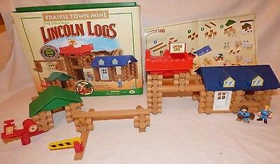 Lincoln Logs Prairie Town Mine - Complete, but 1 Figure is substituted