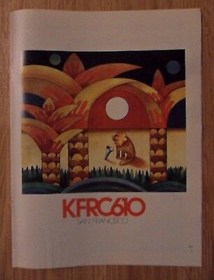 1973 Print Ad KFRC The Big 610 San Francisco Radio Station ~ LION ART