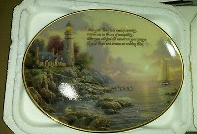 """Thomas Kinkade Collector plate """"A sea of tranquility"""" Guiding Light's series"""