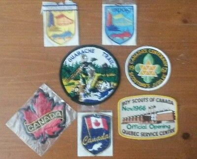 Boy Scout patches, Canada. 67 Expo NIP beaver maple leaf  Quebec Jubilee