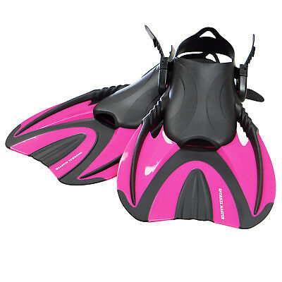 Snorkel Master Adult Hot Pink Swimming Snorkeling Fins