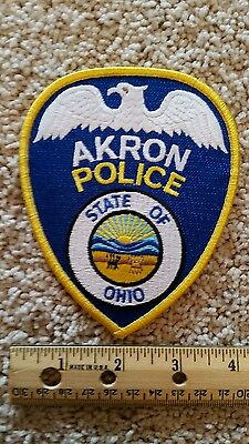 Akron Ohio police officer patch