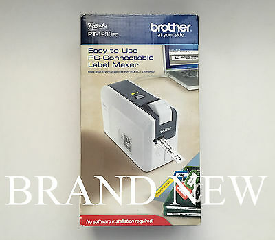 Brother P-touch PT-1230PC PC Connectable Label Printer (BRTPT1230PC) Brand New