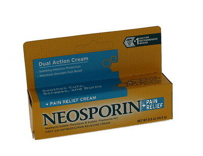 Neosporin + Pain Relief , Maximum Strength 0.5 Ounce (Pack of 2), New