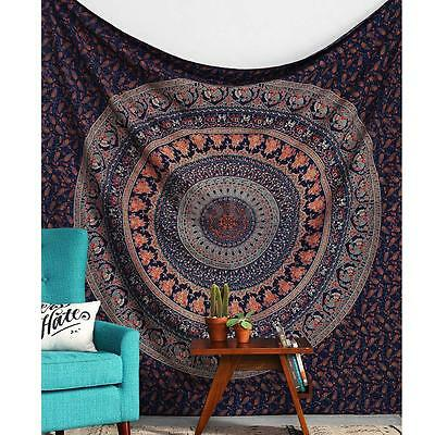 Large Indian Mandala Square Tapestry Wall Hanging Bedspread Beach Mat Blanket AU