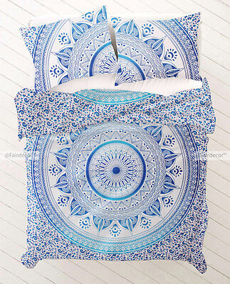Blue Sky Blue Ombre Hippie Bedding Bohemian Duvet Quilt Cover With Pillowcovers