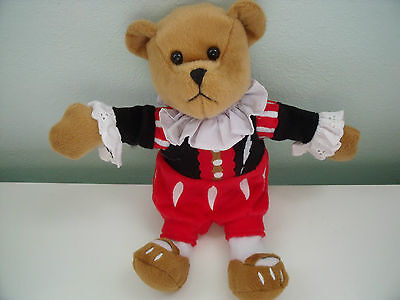 Rare Yarto  Teddy Bear Dressed In Red White And Black Costume