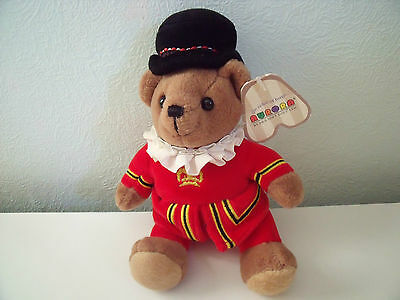 Lovely Little Beefeater Teddy Bear By Aurora Approx 7 Inches Seated