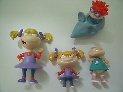 X 4 Rugrat Figures Angelica Chuckie And Lil
