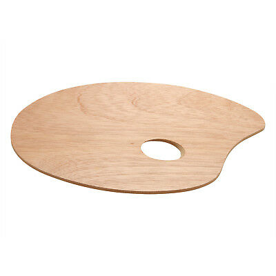 Wooden Artist Palette for Mixing Paint With Thumb Hole - Size 30cm x 25cm