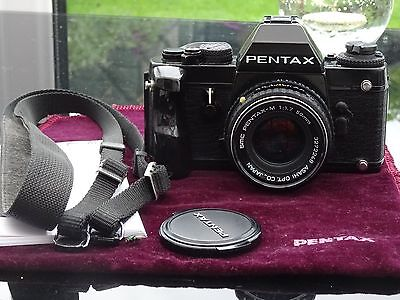 Pentax LX 35mm SLR Film Camera and lens