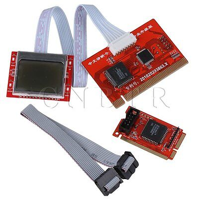Red PTI8 Motherboard Diagnosetester Postkarte mit 2 Displays
