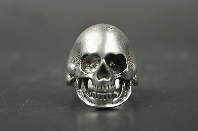 Collectible Carve Skull Head Exorcism Ring 12