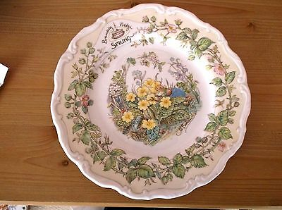 "Royal Doulton Brambly Hedge Four Seasons Plate ""SPRING"" 21cm"