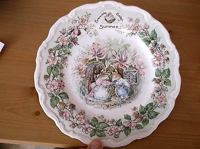 "Royal Doulton Brambly Hedge Four Seasons Plate ""SUMMER""  21cm"