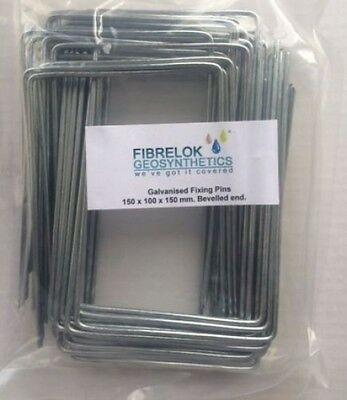 Steel Metal Ground Pegs Pins Staples For Weed Control Fabric Membrane Cover End