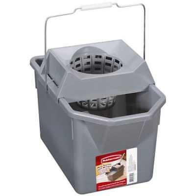 Rubbermaid Bucket with Wringer Mop Ringer 1 Ea Used 8 Gallon Top Quality,F S