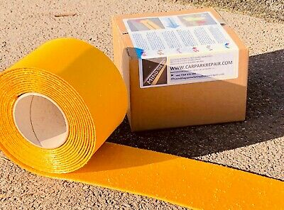 Yellow Line Road Marking 5m Long x 75mm wide Parking Permanent Torch-On