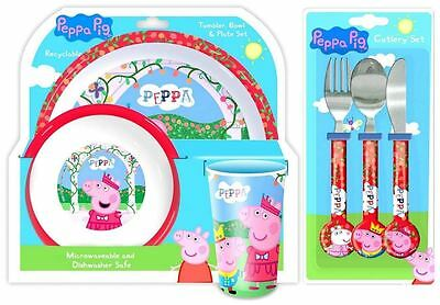 Spearmark 3 Piece Peppa Pig Dinner and Cutlery Set