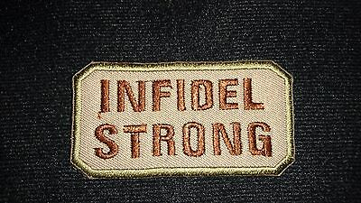 Brand New Infidel Strong Tactical Morale Patch Hook Loop Australian Seller