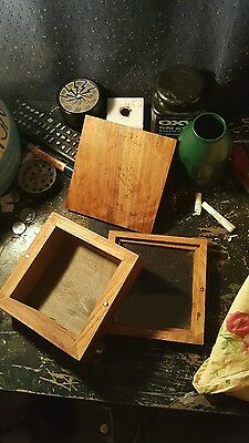 All wooden keif box with glass keif catch