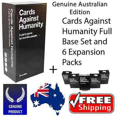 Genuine Cards Against Humanity V1.7 Australian Game Main Base Set + 123456 Exp