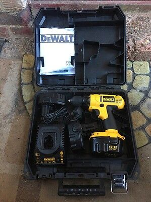 Dewalt Dc728 14.4v Drill Driver Set X3 Battery's