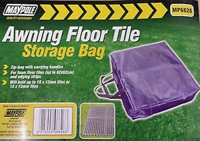 MAYPOLE Awning Floor Tile Zip Storage Bag with Handles, Blue in colour MP6626