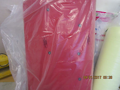 Futon Mattress Cushion Red Small Double 4Ft New