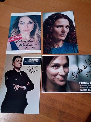 wentworth prison  signed 5 fan cards  new