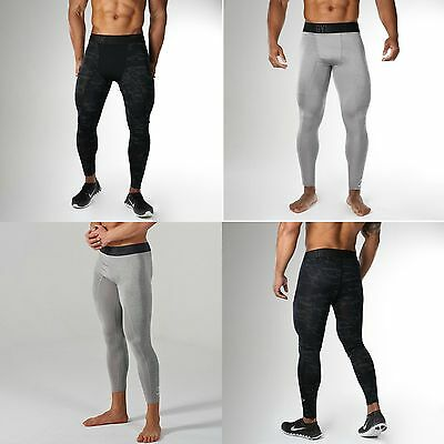GYMSHARK Mens Stylish Fitness Gym Workout Compression Dri Fit Leggings