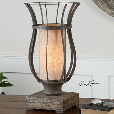 Uttermost Minozzo Metal Accent Lamp In Rustic Bronze Transitional Table