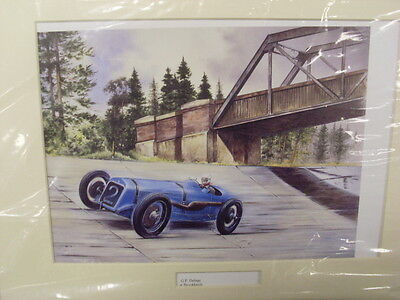 G P Delage at Brooklands by Bob Murray Open Edition Print Mounted    (TR)