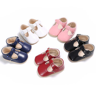 Infant Newborn Baby Boy Girl Leather Soft Crib Shoes Christening Pram Prewalker
