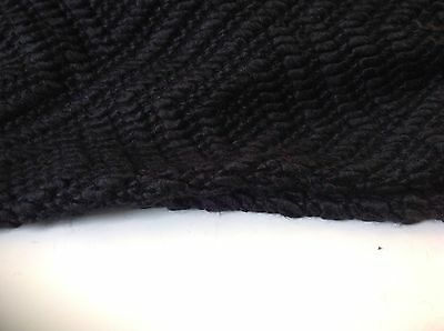 "NEW Black Wool Boucle Jersey Fabric 74""189cm Seen Online Top Designers Images"