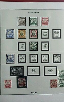 deutsches reich colonies stamps ostafrika mint. used valuable collection