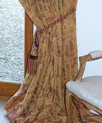 ZOFFANY CURTAINS  Damask BROCATELLO French BAROQUE Inspired  BLANKET INTERLINED