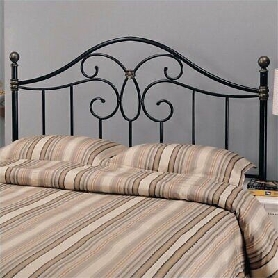 Bowery Hill Full Queen Metal Headboard in Bronze and Black