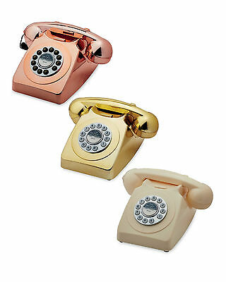 Retro Style Phone Corded Vintage Telephone Push Button Dial Classic British