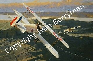 "Bristol Scout ""Encounter over Gallipoli"" by Ivan Berryman. Limited edition print"