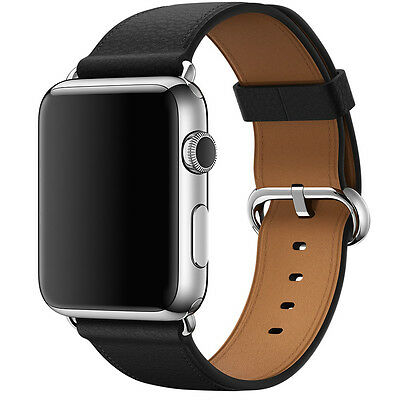 Apple 42mm Classic WATCH STRAP BLACK BUCKLE 316L STAINLESS STEEL  [MMHD2ZM/A]