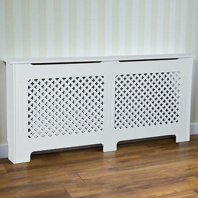 Radiator Cover Traditional White Extra Large MDF Classic Cabinet Grill Furniture