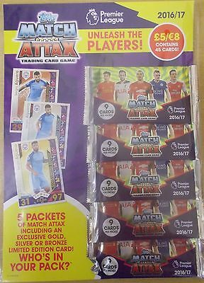 Match Attax 2016/17 ~ EPL Trading Card MultiPack ~ Inc 5 Packs + Limited Edition