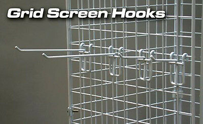 """4"""" Gridwall Scanner Hook Retail Display Store Fixture White Lot of 100 NEW"""
