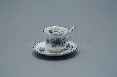 July - Miniaturtasse mit Untertasse Royal Albert Flower of The Month