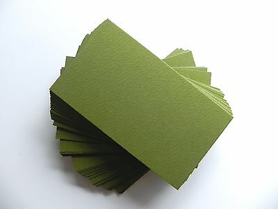 100 ct. OLIVE GREEN Blank Business Cards 65 lb.Cover - 3.5 x 2 place cards